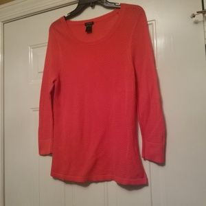 Ann Taylor Small Sheer Sweater Coral